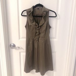 EUC Woven Stretch Cotton Fit and Flare Shirt Dress
